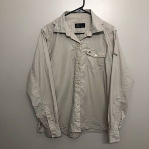 craghoppers button down shirt tan size 14